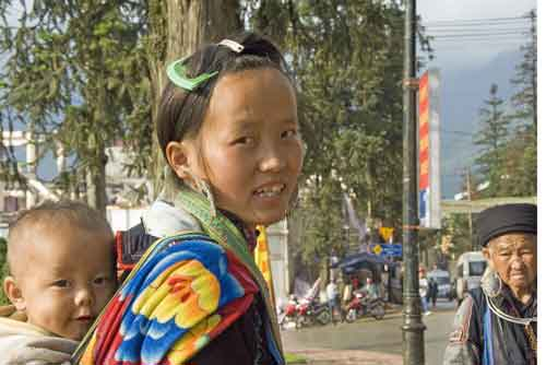 hmong child on back-AsiaPhotoStock
