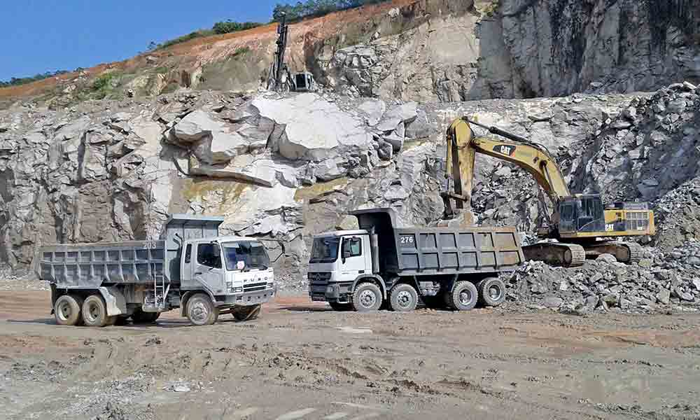FUSO truck in quarry-AsiaPhotoStock