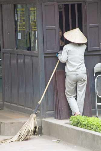 cleaner in white-AsiaPhotoStock