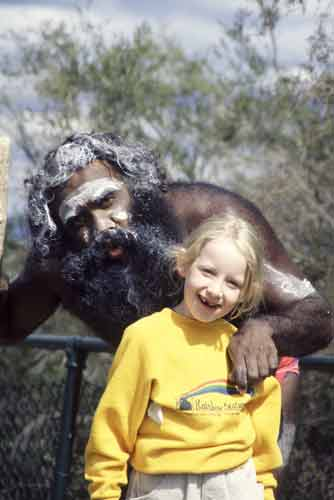 aborigine and girl-AsiaPhotoStock
