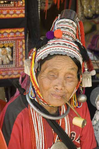 akha blind lady-AsiaPhotoStock
