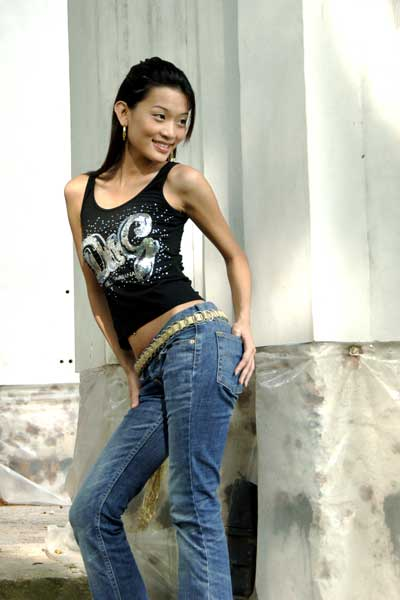 asian model in jeans-AsiaPhotoStock