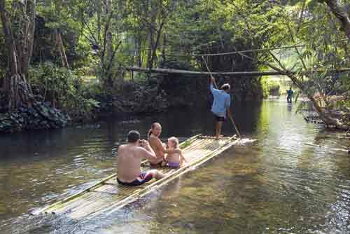bamboo raft adventure-AsiaPhotoStock
