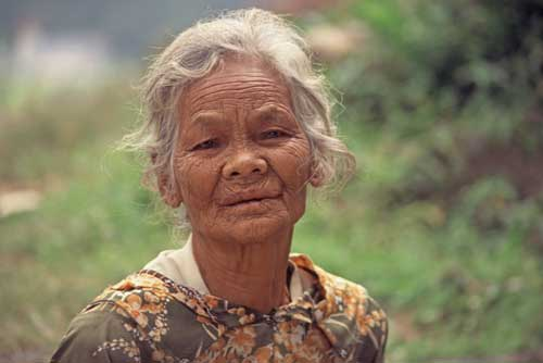 indonesian old lady-AsiaPhotoStock