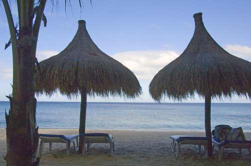 two thatched chairs-AsiaPhotoStock