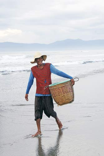 fisherman and basket-AsiaPhotoStock
