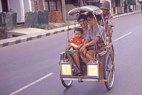 becak with family in-AsiaPhotoStock