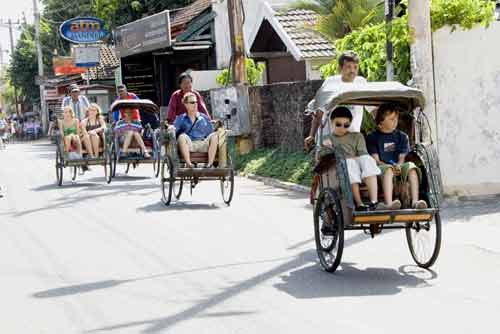 becak tourists-AsiaPhotoStock