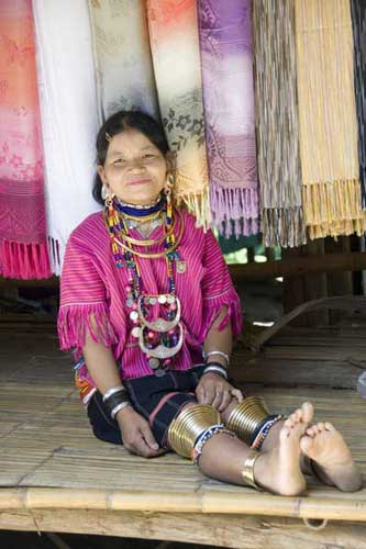 lahu lady sitting-AsiaPhotoStock