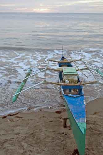 bauang boat on beach-AsiaPhotoStock