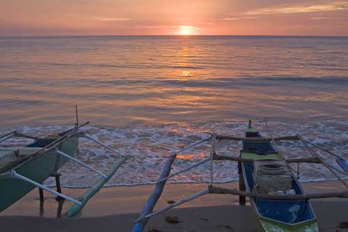 bauang boats sunset-AsiaPhotoStock
