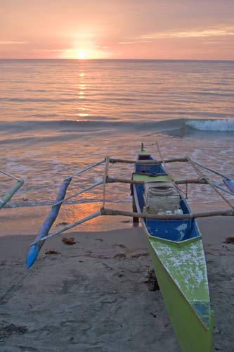sunset bauang boats-AsiaPhotoStock