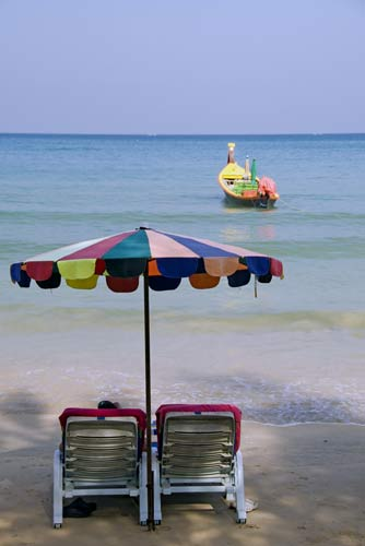 boat and umbrella-AsiaPhotoStock