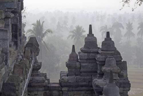 morning mist at temple-AsiaPhotoStock