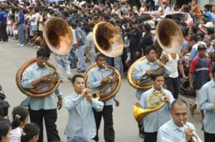 brass band playing-AsiaPhotoStock