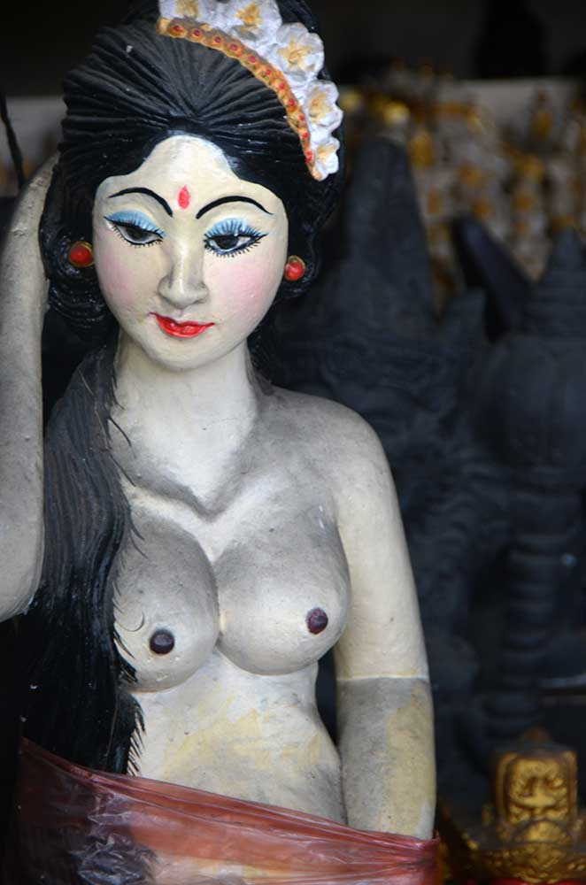 carved lady in bali-AsiaPhotoStock