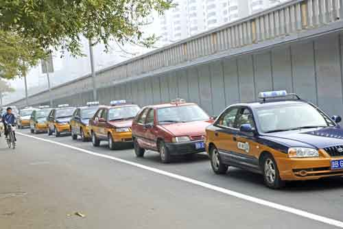chinese taxis-AsiaPhotoStock
