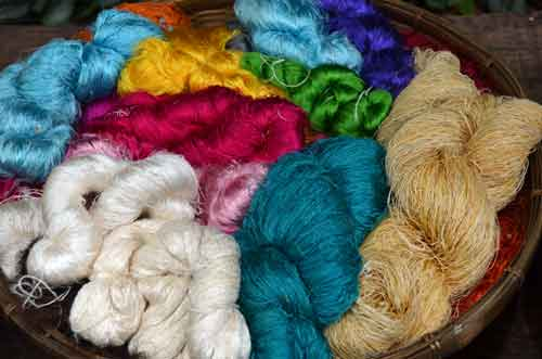 colourful silk thread-AsiaPhotoStock