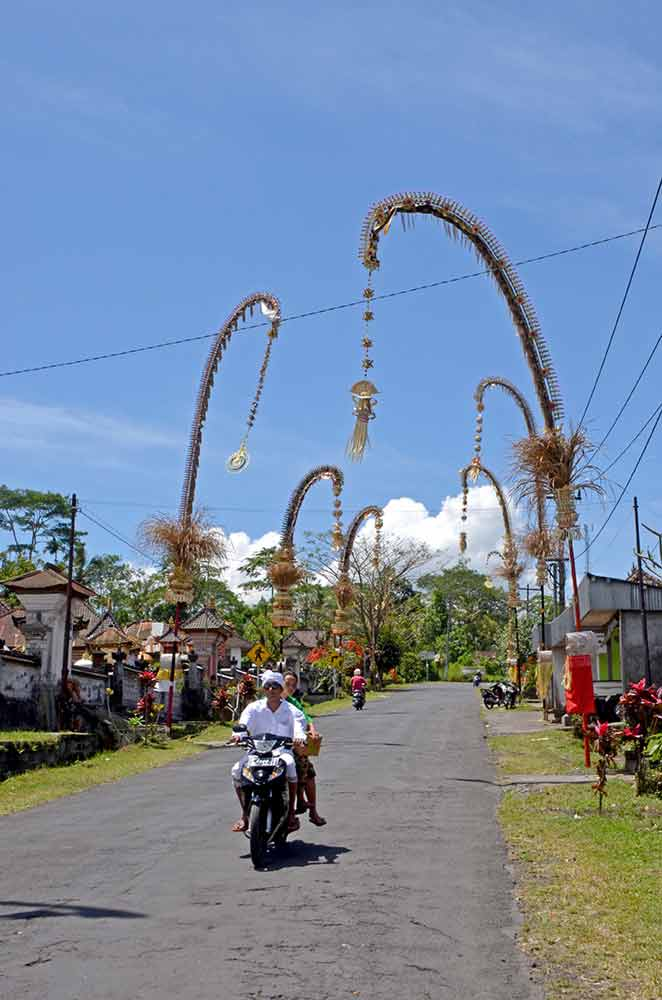 decorated village in bali-AsiaPhotoStock