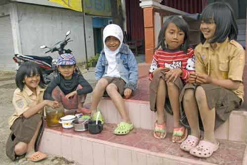 dieng children-AsiaPhotoStock