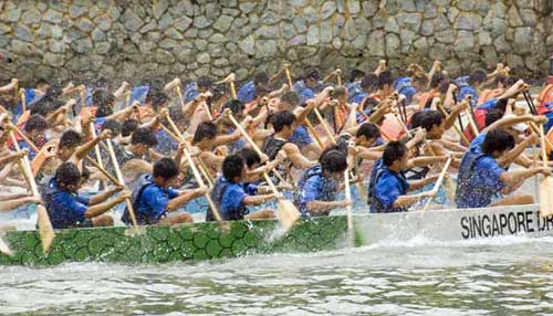 dragon boat action-AsiaPhotoStock