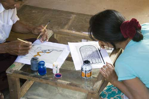 artists myanmar-AsiaPhotoStock