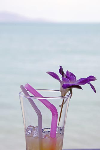 drink and orchid-AsiaPhotoStock