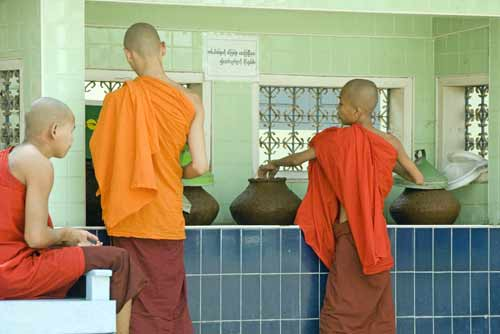 monks water station-AsiaPhotoStock
