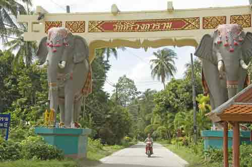 elephant gate and bike-AsiaPhotoStock