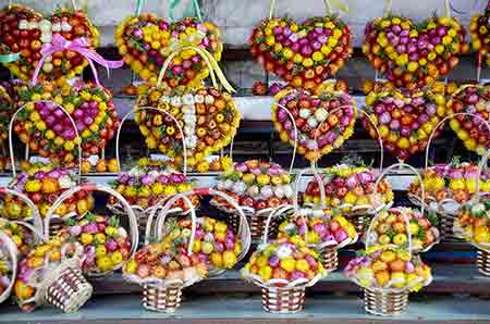 flower baskets-AsiaPhotoStock