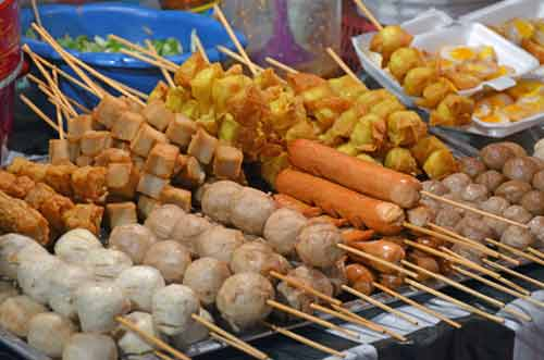 food on sticks thailand-AsiaPhotoStock