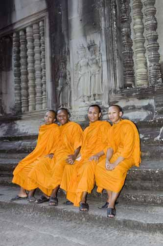 four monks-AsiaPhotoStock