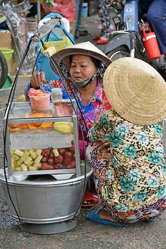fruit seller hcmc-asia photo stock