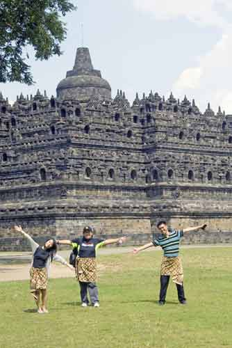 fun at borobudur-AsiaPhotoStock