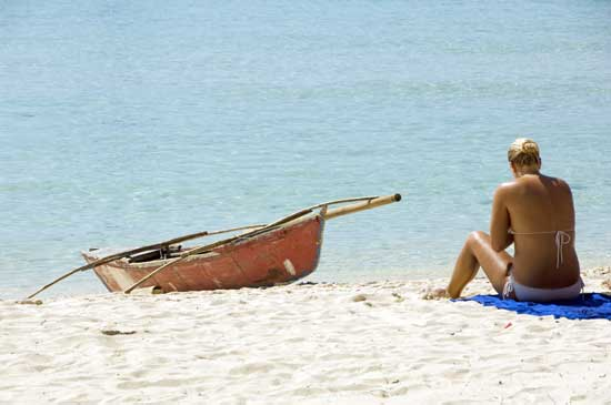 alone on a beach-AsiaPhotoStock