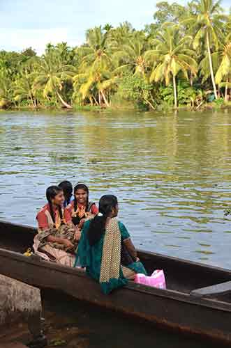 girls boat kerala-AsiaPhotoStock