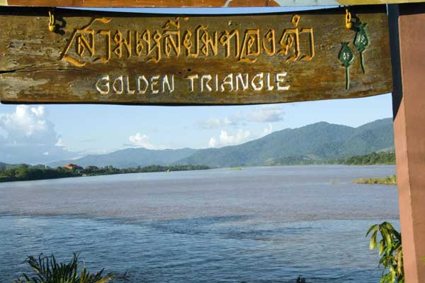 golden triangle sign-AsiaPhotoStock