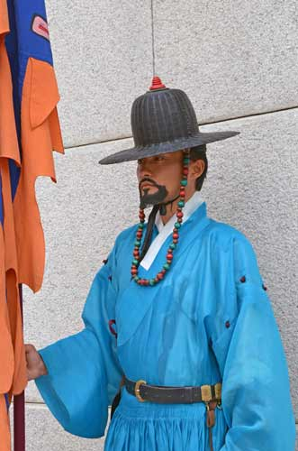 guard at Gyeongbokgung-AsiaPhotoStock