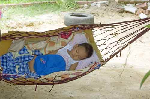 sleeping in hammock-AsiaPhotoStock