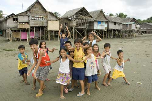 iloilo beach kids-AsiaPhotoStock