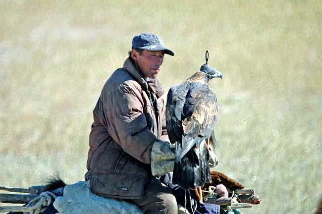 khazak with falcon-AsiaPhotoStock