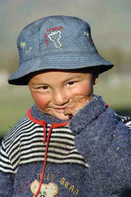 young boy with hat-AsiaPhotoStock