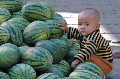 boy with watermelons-AsiaPhotoStock