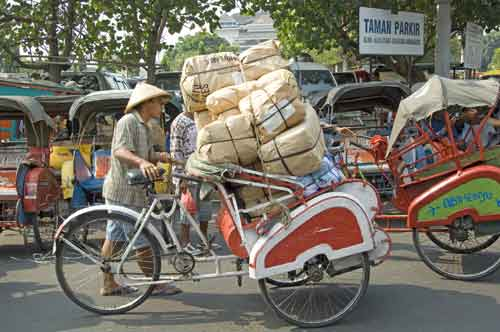 loaded becak java-AsiaPhotoStock