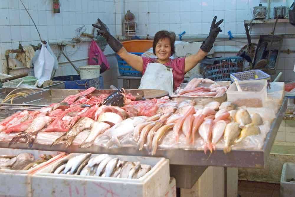 Asiaphotostock Market Taipa Sells Fish