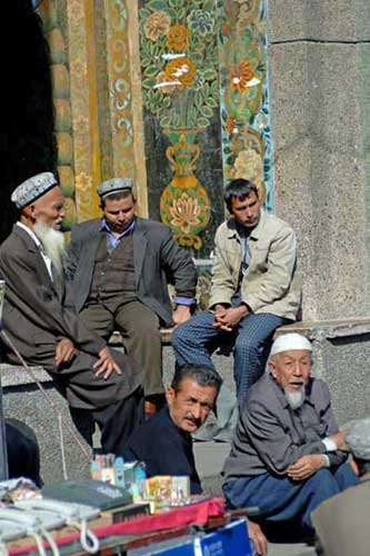 group men at mosque-AsiaPhotoStock