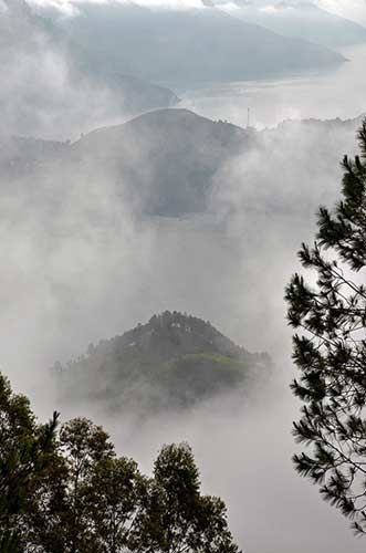 misty lake toba-AsiaPhotoStock