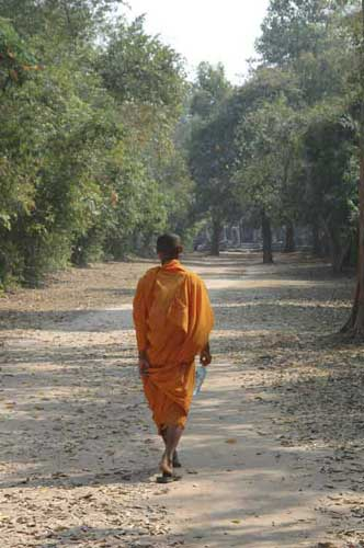 monk walking-AsiaPhotoStock