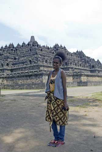 papuan at borobudur-AsiaPhotoStock
