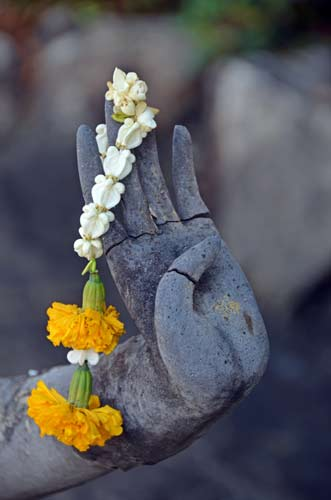 peace with garland-AsiaPhotoStock